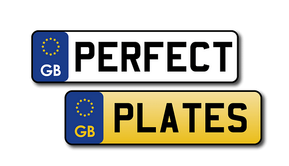 Perfect Plates Gel & Acrylic Number Plates