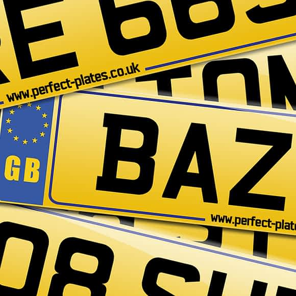 Custom made registration plates