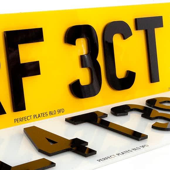 4D Laser Cut Acrylic Number Plates